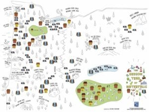 oregon waterfalls map